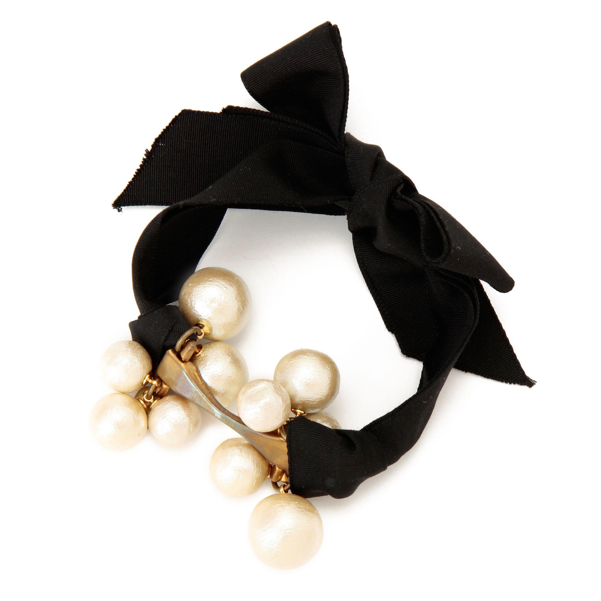 <集英社> Petite robe noire(プティ ローブ ノアー)/コットンパールリボンブレス画像