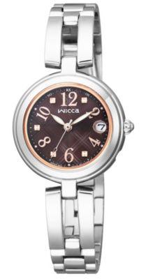 <集英社> Wicca ソーラーテック電波時計 ハッピーダイアリー チェック柄(KL0−219−91)画像