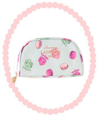 <集英社> スクレ・ラデュレ プリントポーチ(Roses et macarons ローズ・エ・マカロン)画像
