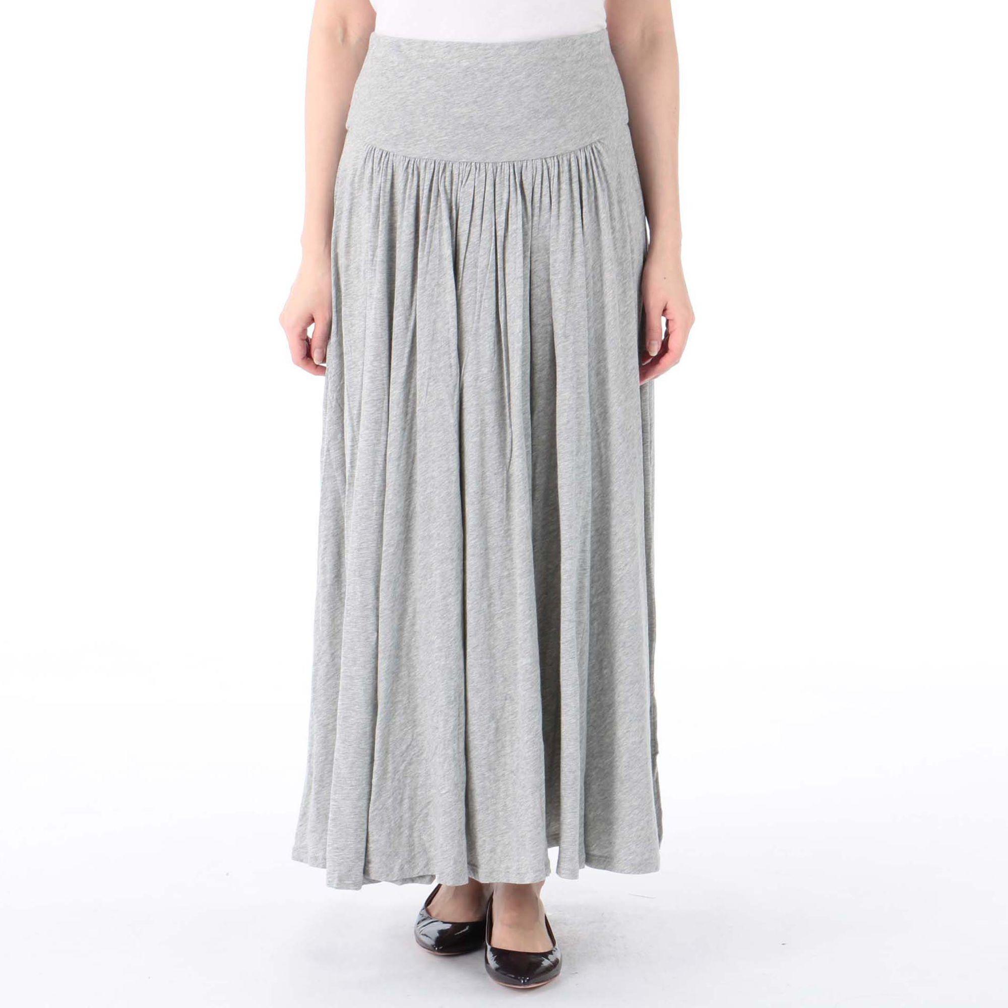 <集英社> THREE DOTS(スリードッツ)/ジャージーコレット ロングスカート画像
