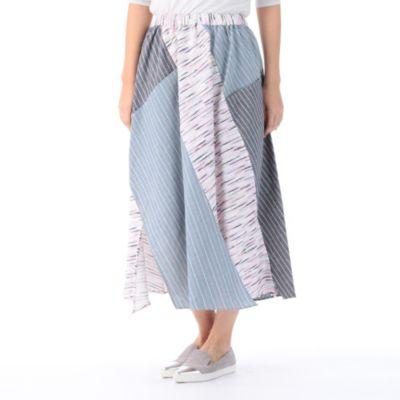 Light Tweedy Dobby Cotton Cupro Skirt