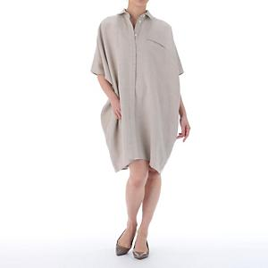 shirt dress with open back panel
