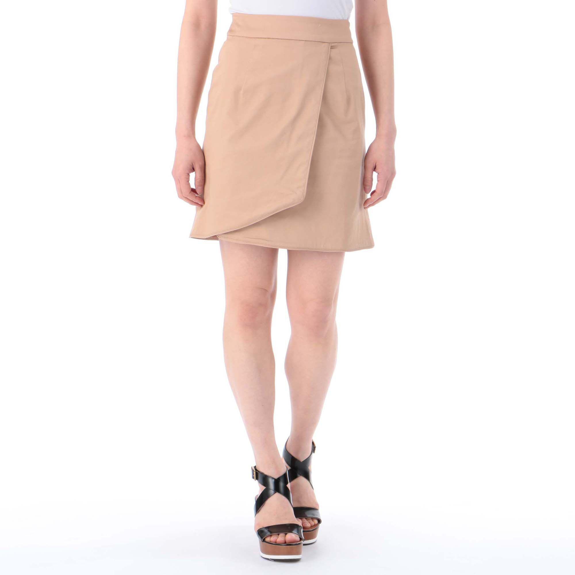 MERCURYDUOマーキュリーデュオ/サテンストレッチラップタイトスカート