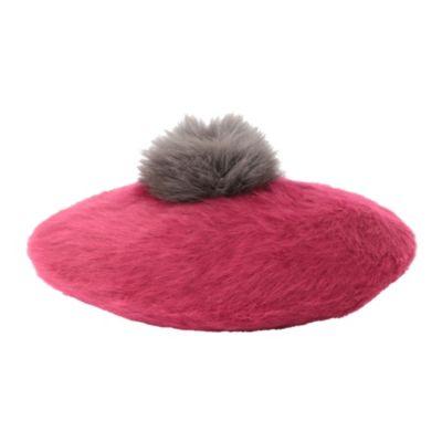 フォックスファー付ニット帽