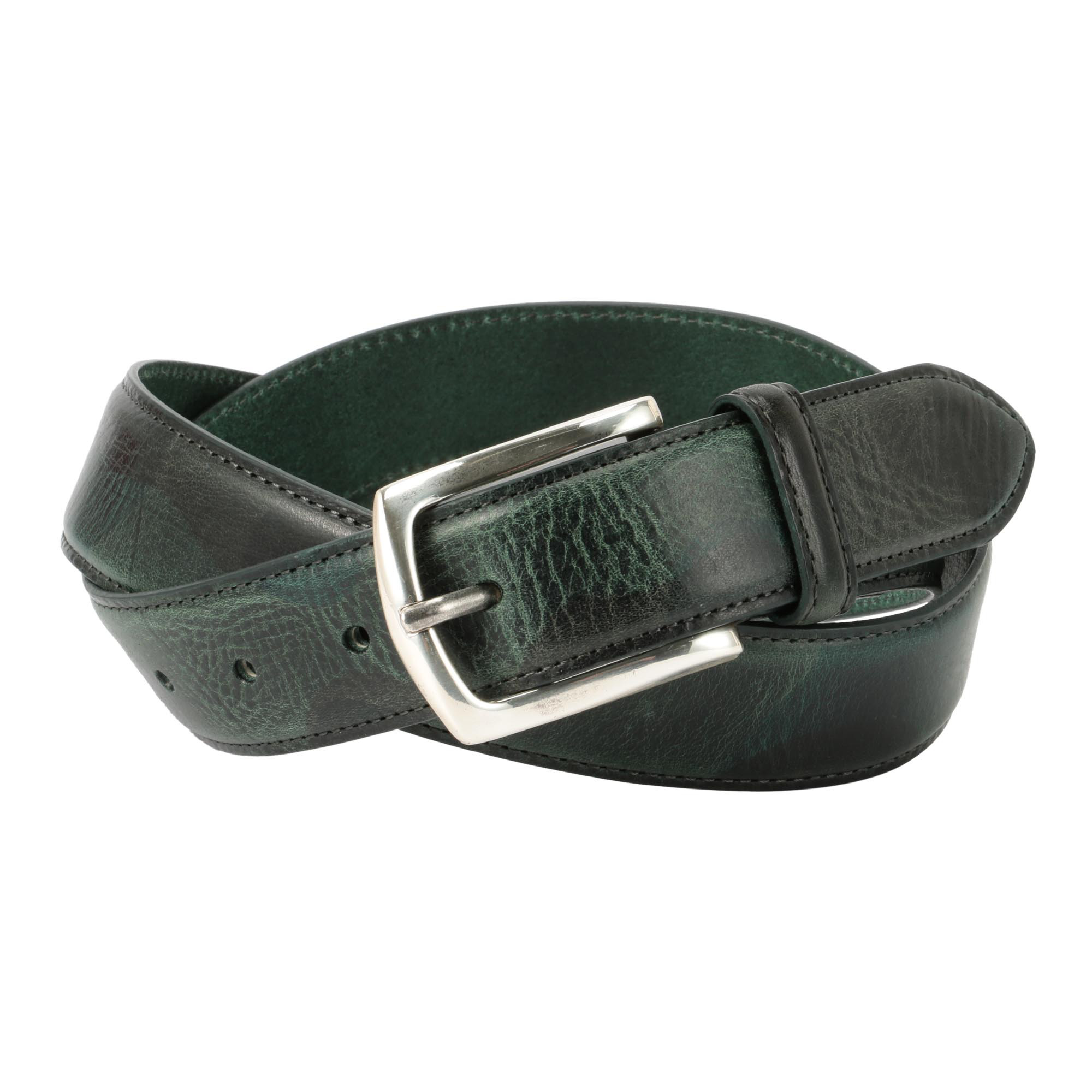 CAMOUFLAGE PRINT LEATHER BELT