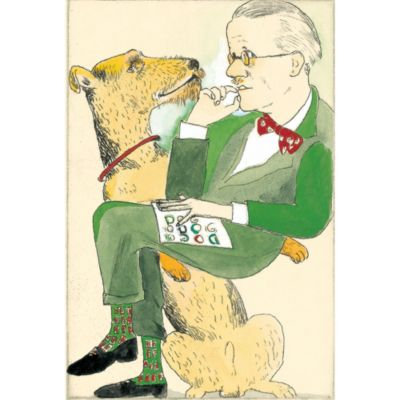 <集英社> 『Joyce and Dog』銅版画 手彩色画像