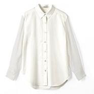 立体スリーブホワイトシャツ