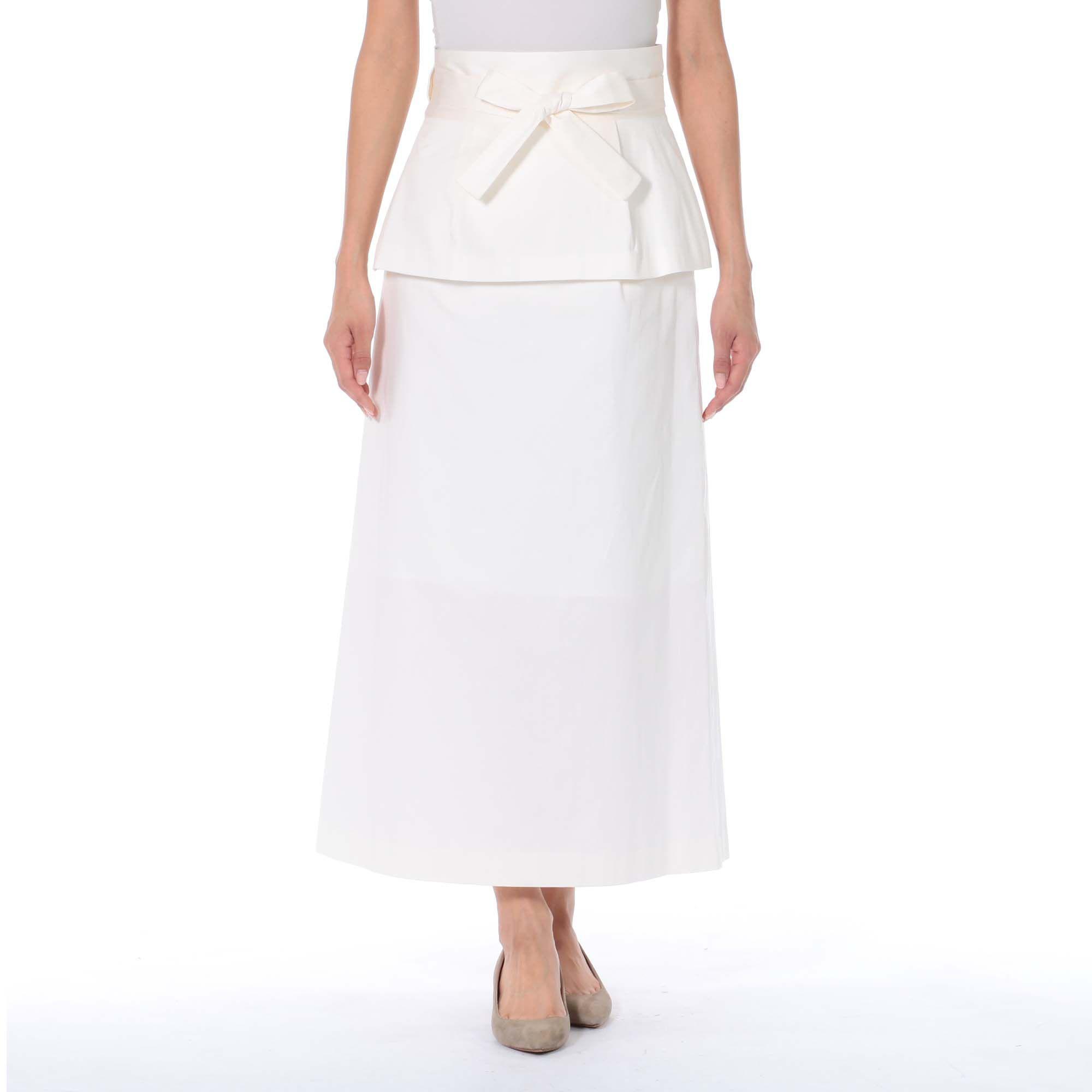 PARIGOTパリゴ/ペプラムベルト付きロングタイトスカート