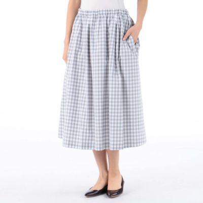 タックギャザースカート78cm丈