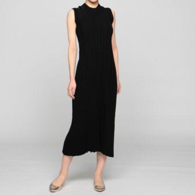 ノースリーブニットドレス