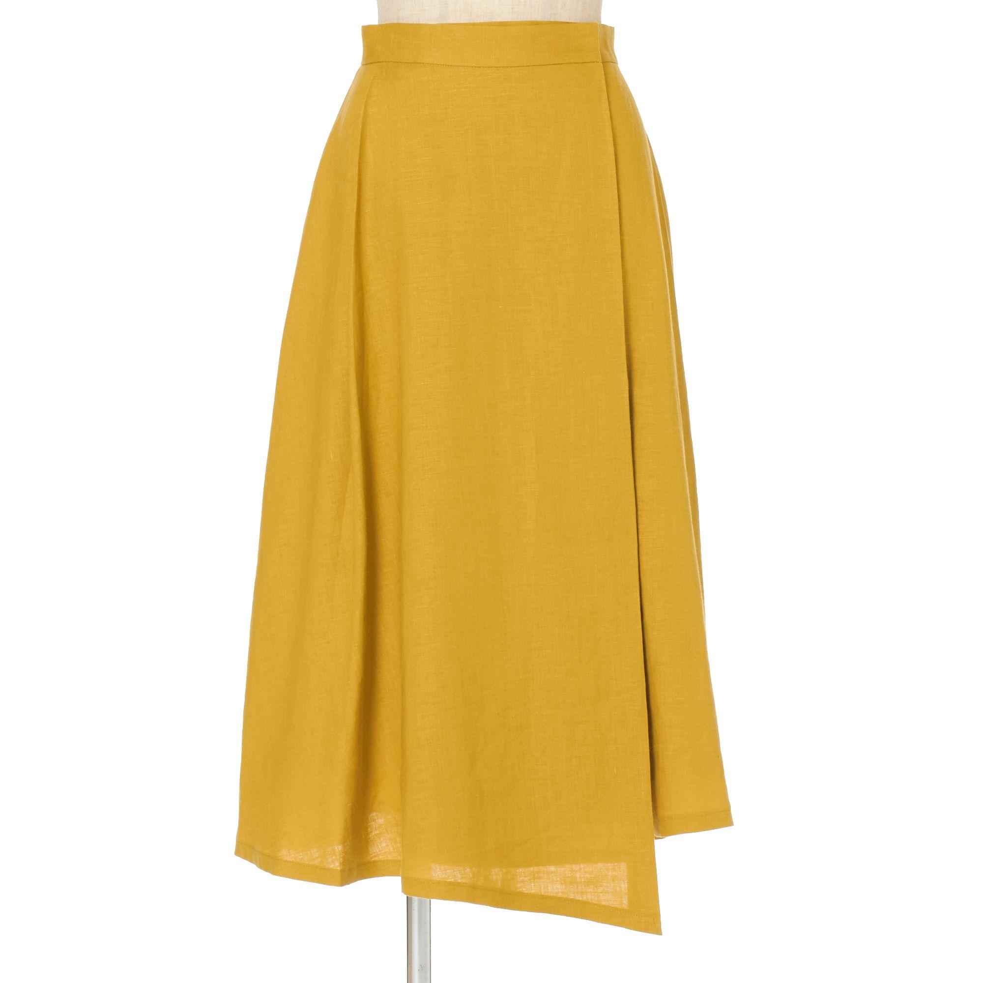 <集英社> リネンラップ風スカート