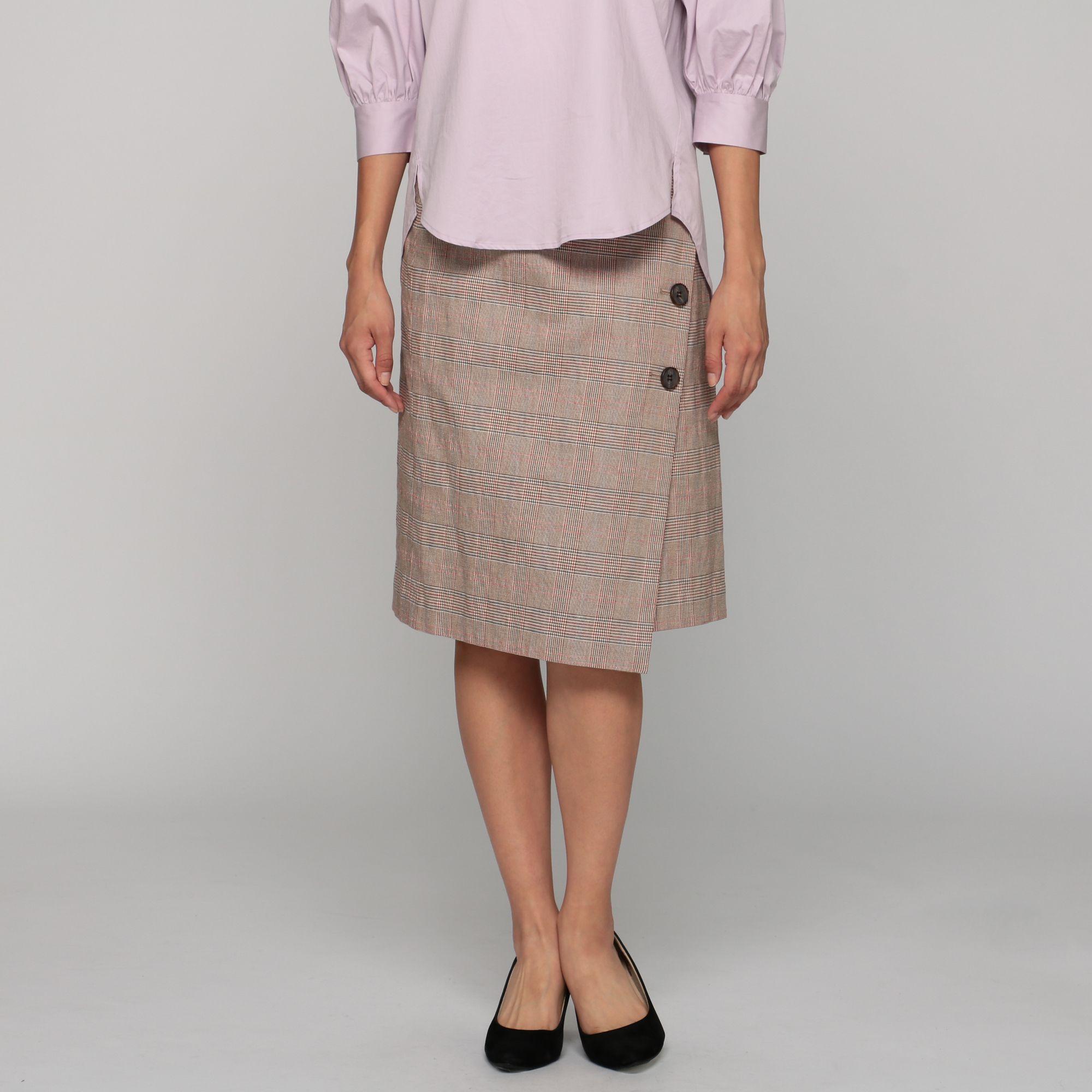 martiniqueマルティニーク/グレンチェックラップタイトスカート