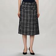 バックプリーツツイードスカート