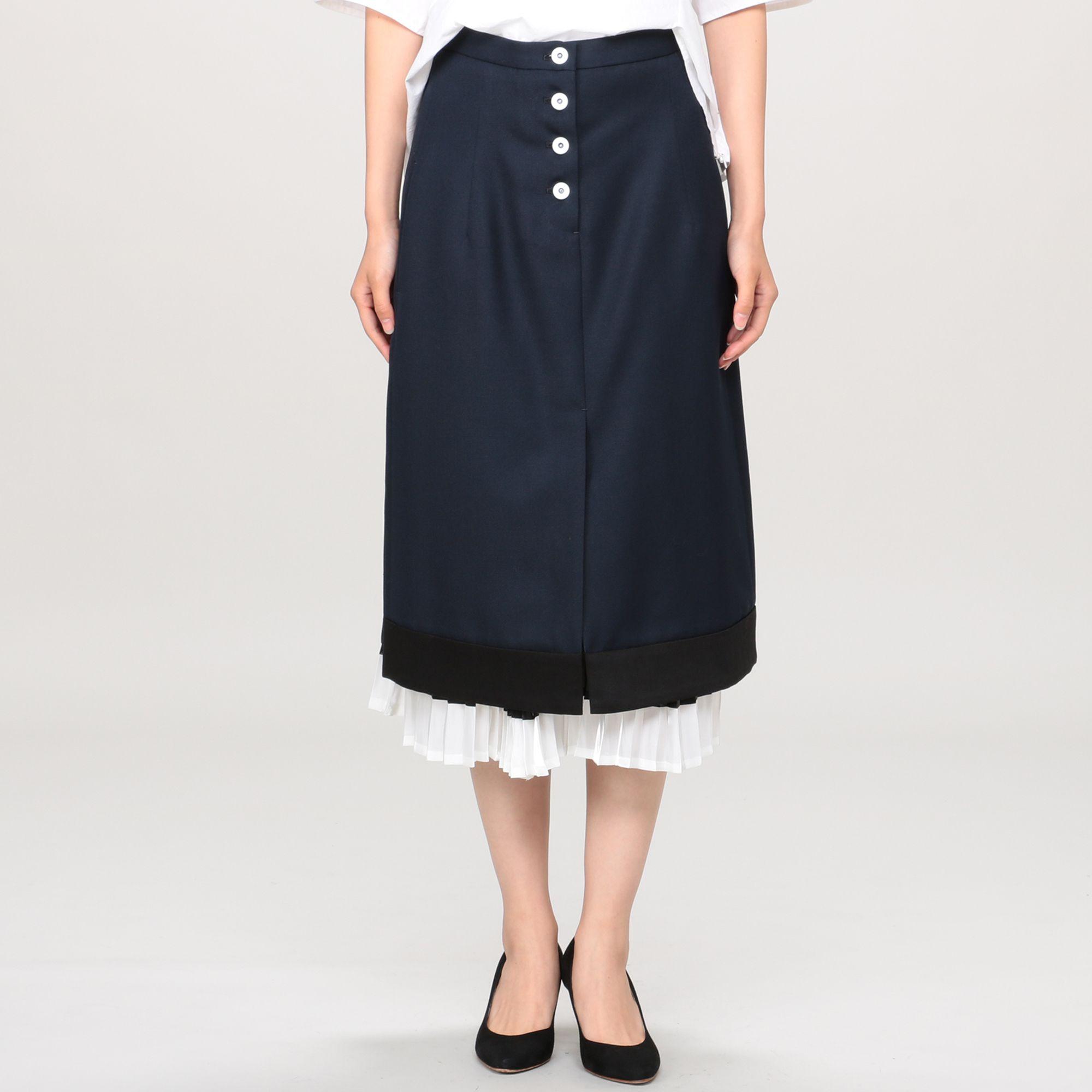 CINOHチノ/バックプリーツスカート