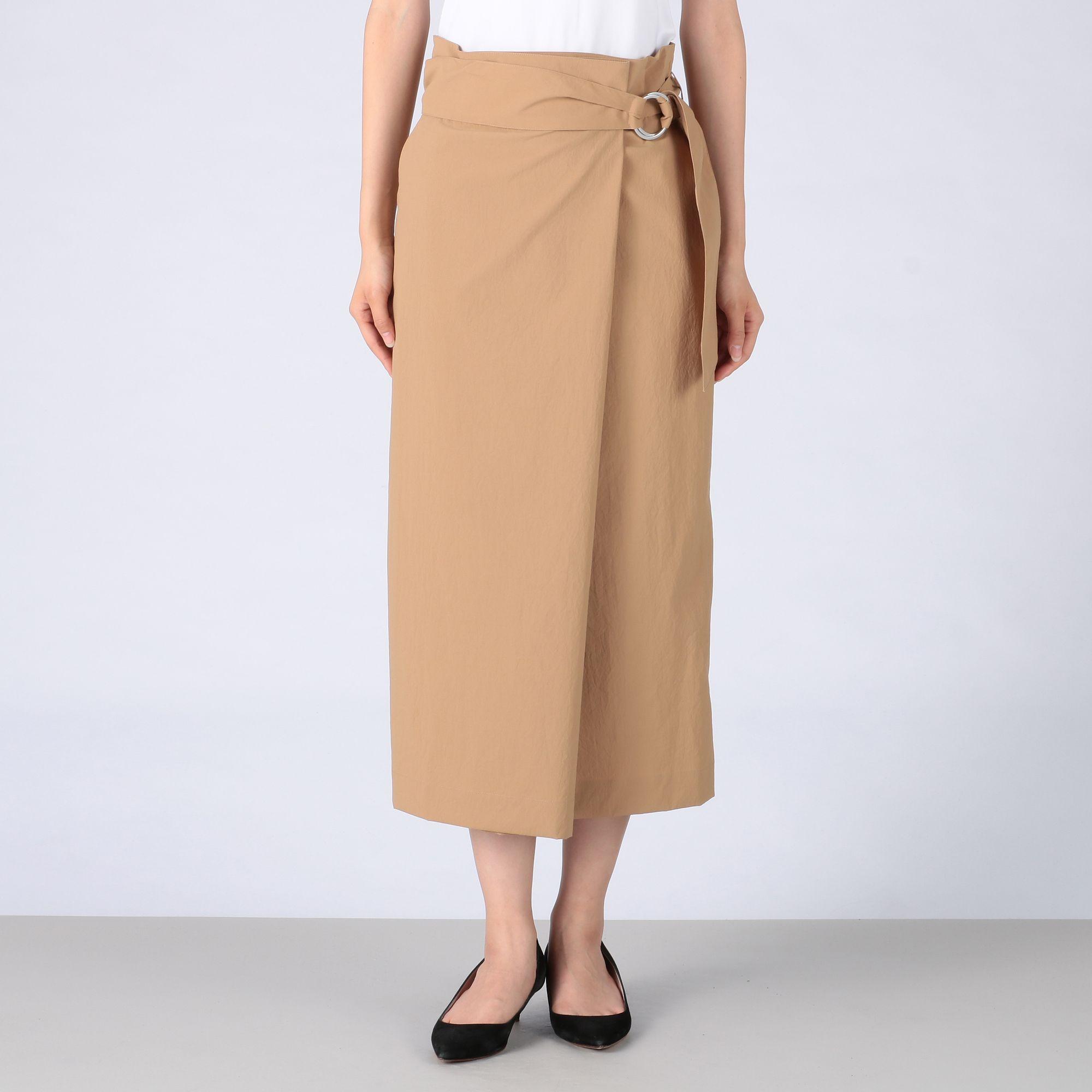 Tiaraティアラ/タスラン巻き風サッシュベルト付タイトスカート