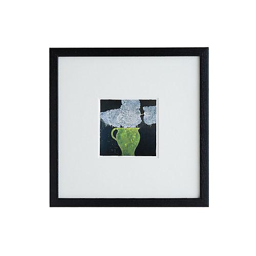 飾りやすい小ぶりなサイズのアート作品 ドナルド・サルタン 「hydrangea in a green pot」