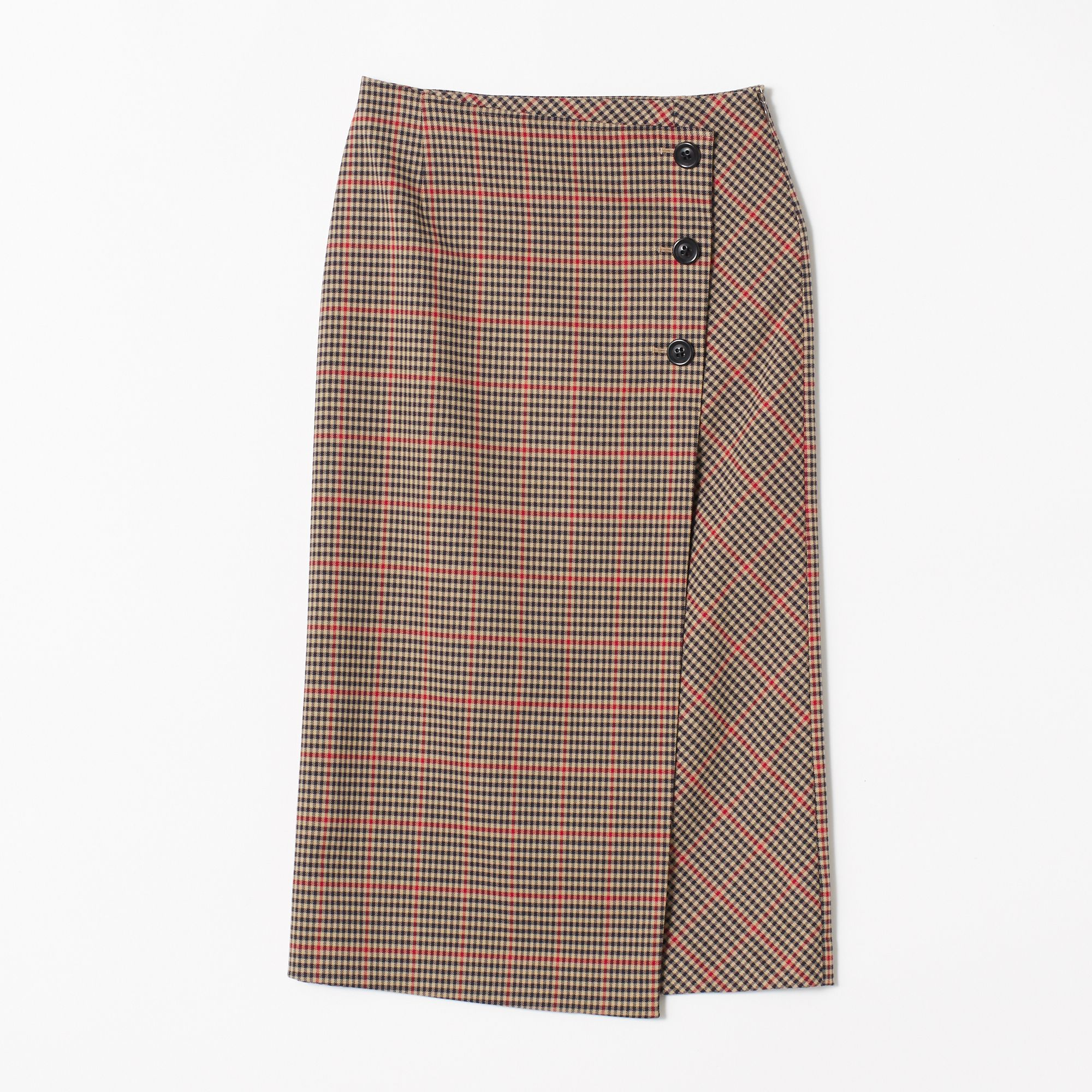 M7daysエムセブンデイズ/チェック柄タイトスカート