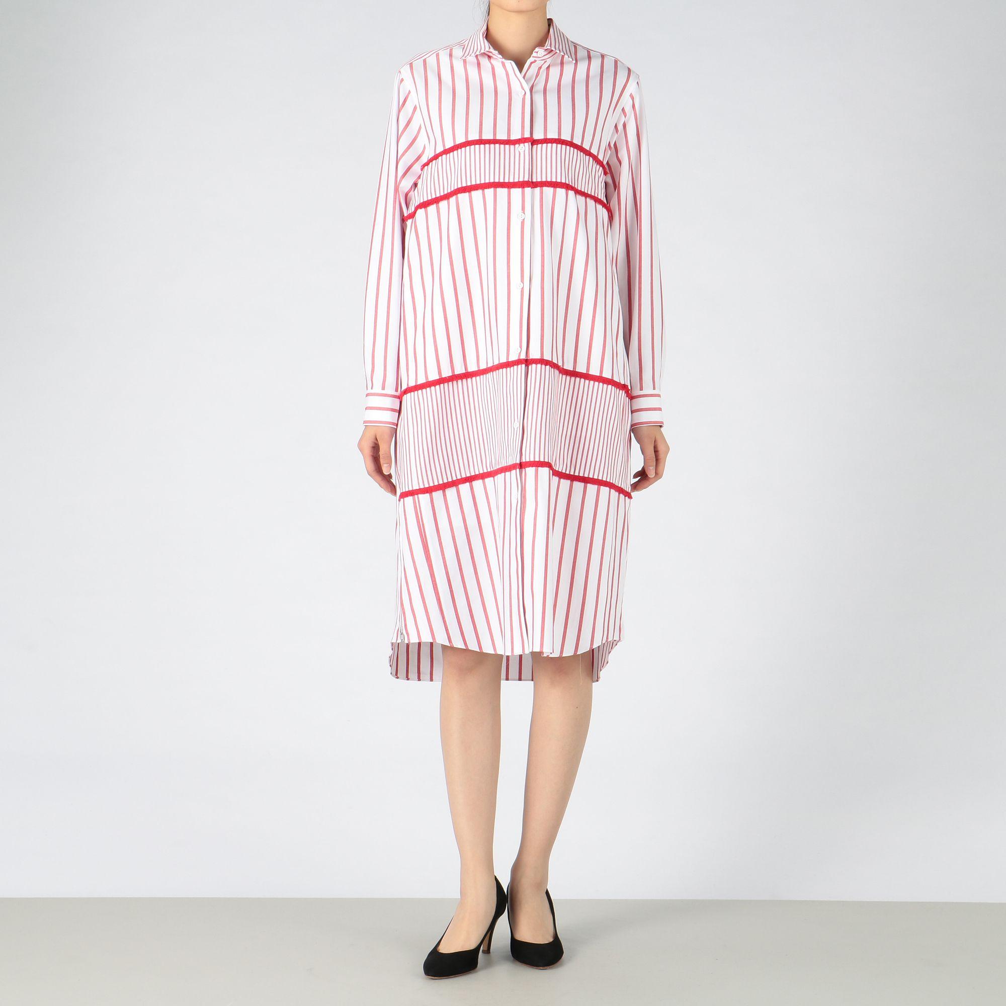<集英社>【mintdesigns SKETCH】STRIPE SHIRT DRESS画像
