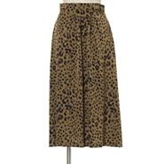 50代ファッション レオーパード柄スカート,THE IRON