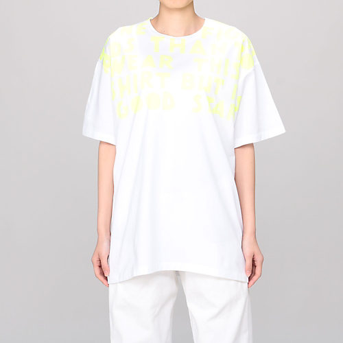 White With Fluo Yellow Print