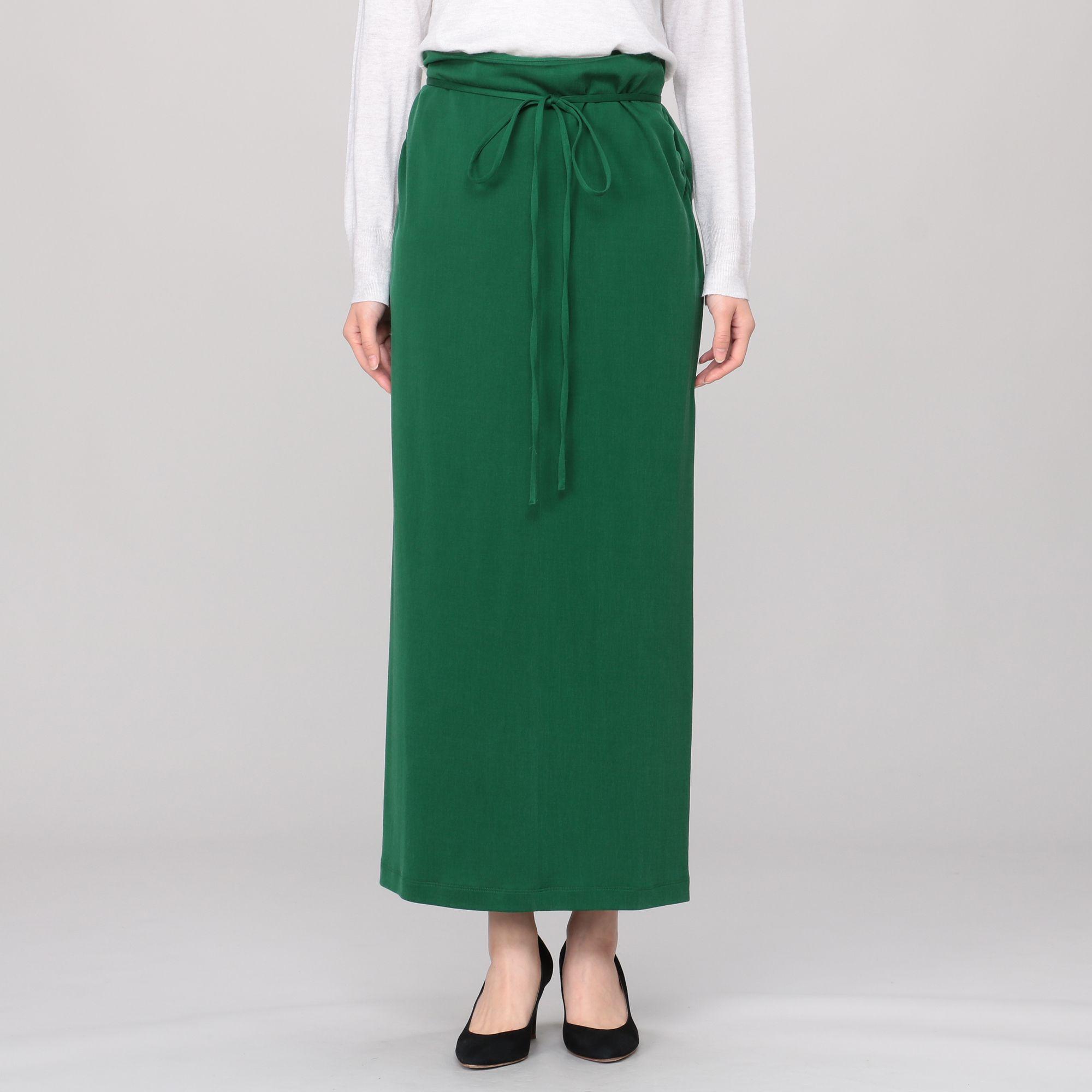 08sircus08サーカス/Fibril cupra double knit maxi skirt