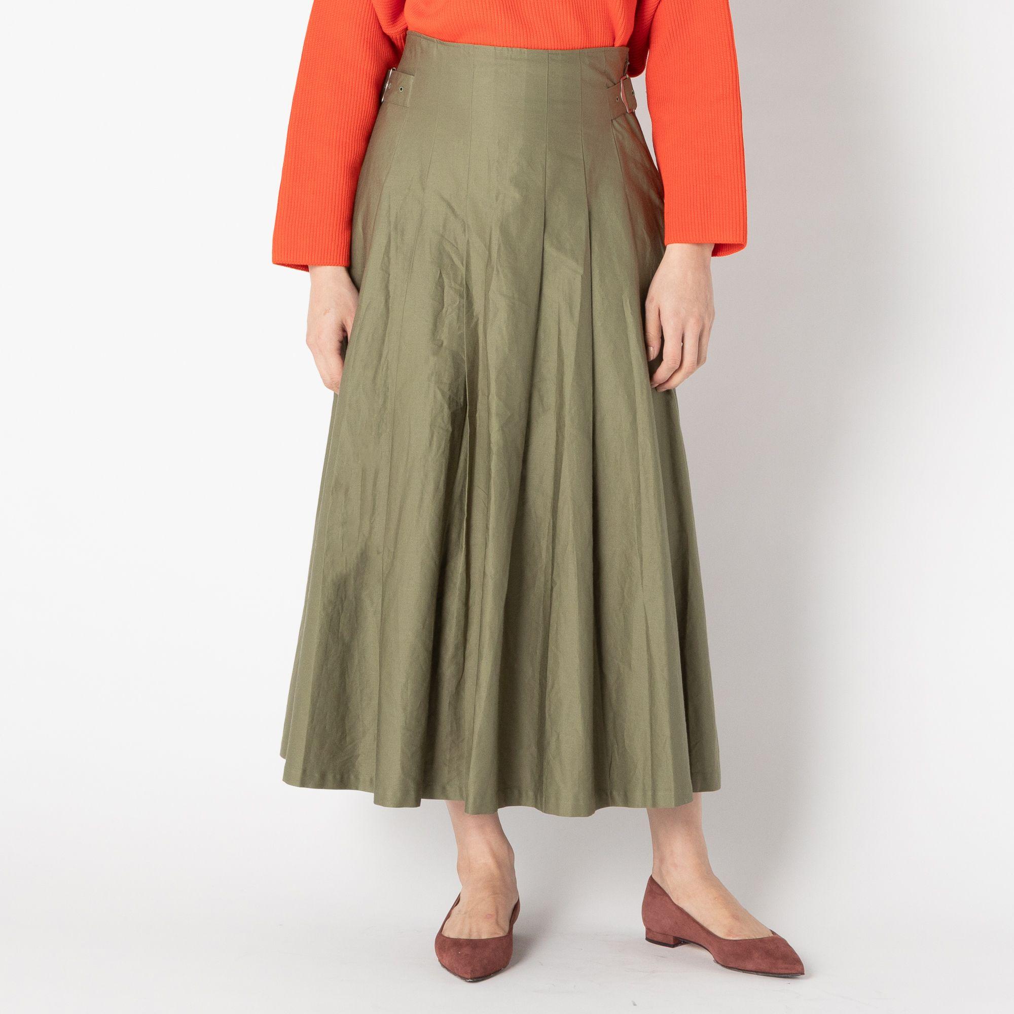 HELIOPOLE(エリオポール)/コットンツイル グルカタックフレアスカート