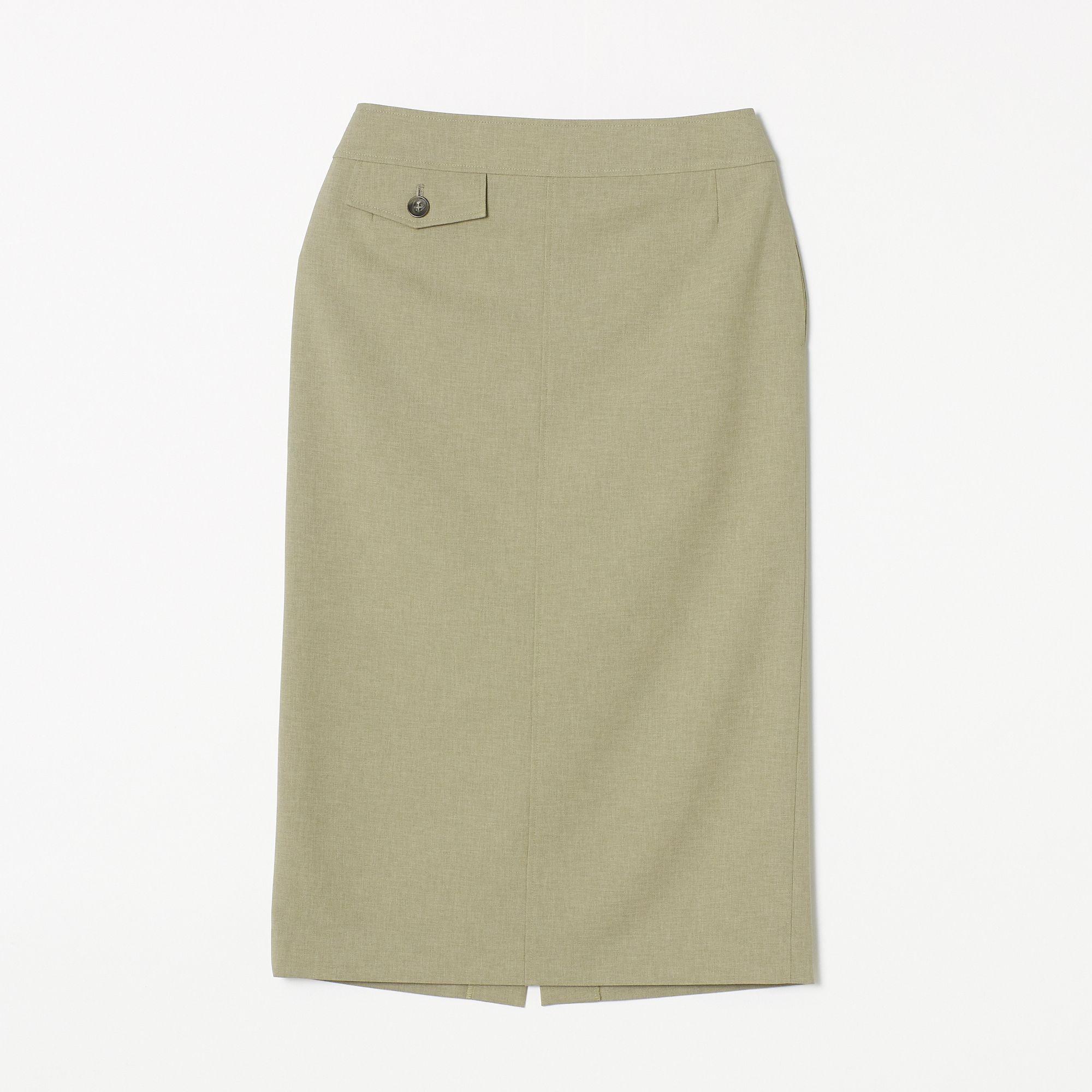 <集英社> リネン風タイトスカート画像