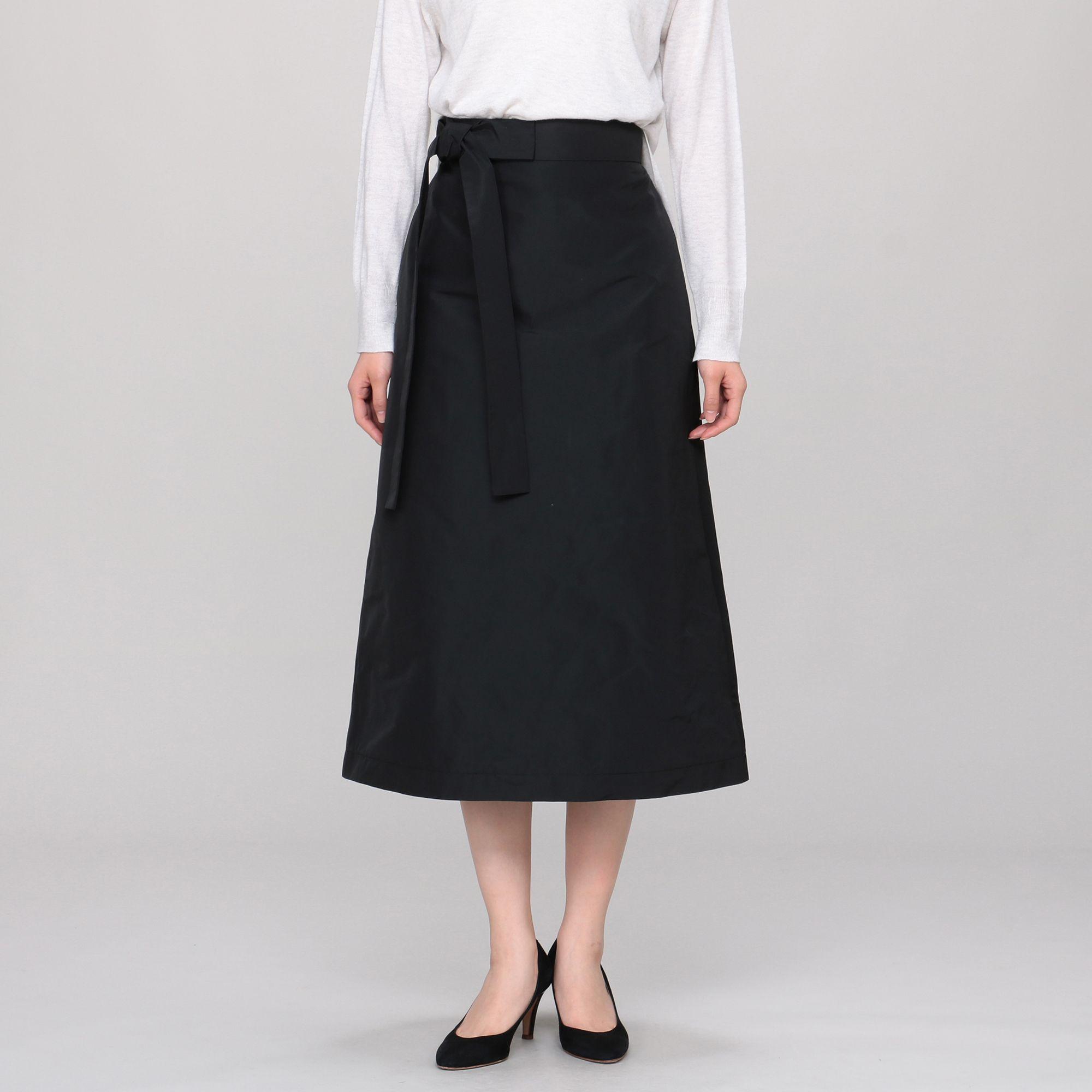 ROCHASロシャス/ウエストリボンタイトスカート