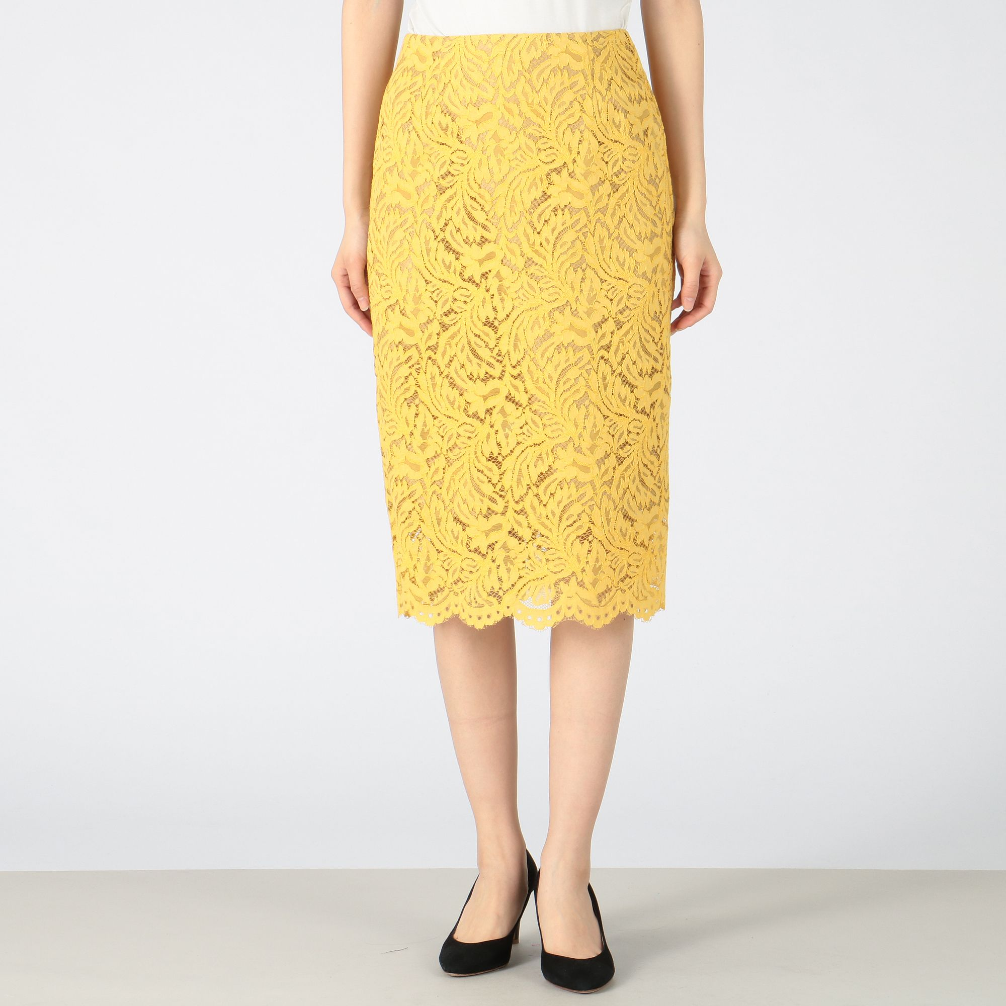 PARIGOTパリゴ/レースタイトスカート