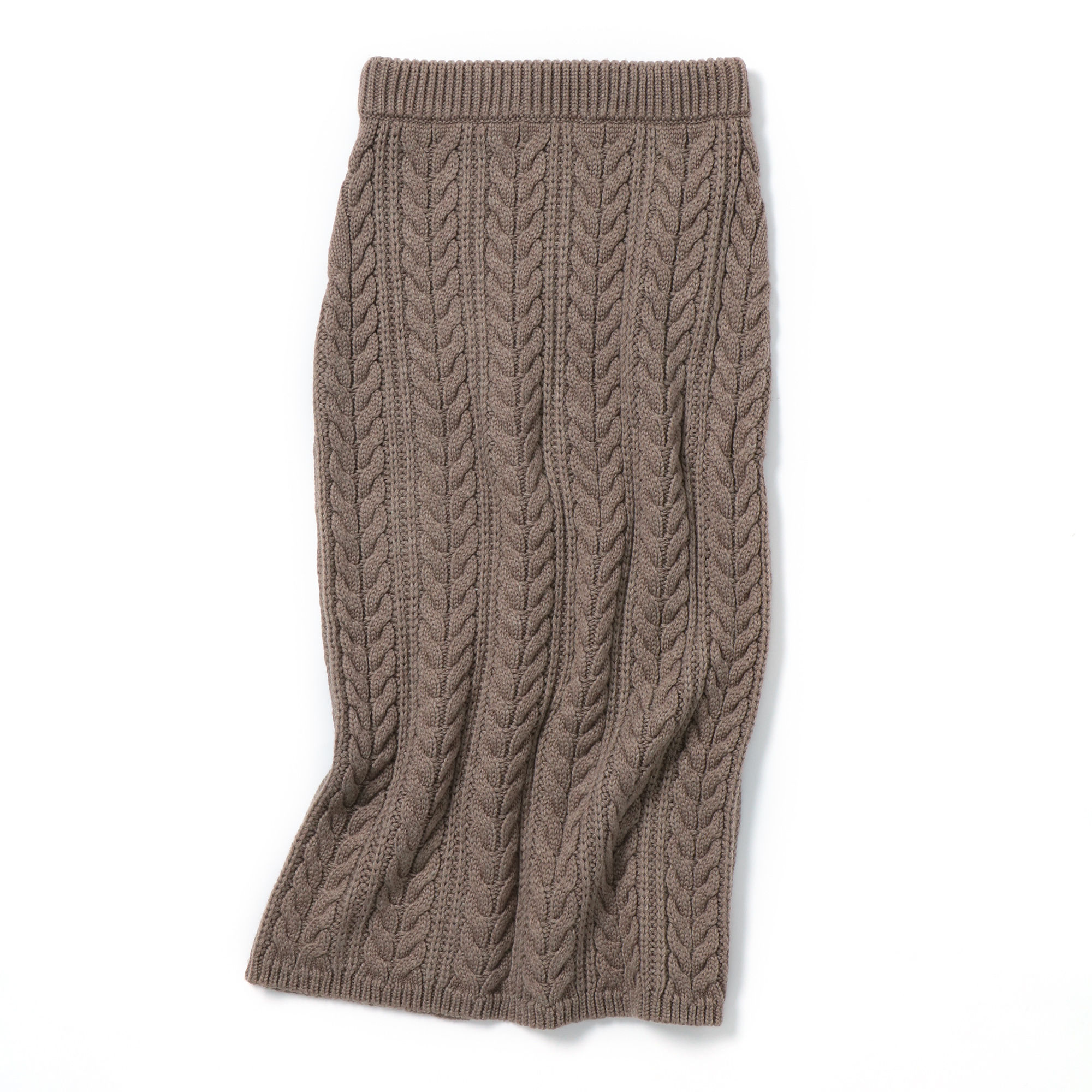 M7days (エムセブンデイズ) ケーブル柄ニットスカート