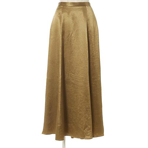 上品な光沢が秋冬に映える 艶とろフレアスカート