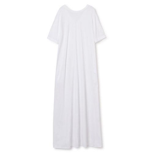 上質なリラックス感漂う大人のTシャツワンピース フレアジャージードレス