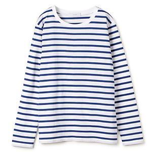 Munichコラボ キレイ目ボーダーロングTシャツ ¥7,700