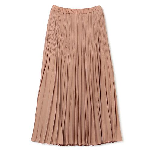 素材にツヤがあり、ソフトでしなやかな風合い 【洗える】グラデーションプリーツスカート
