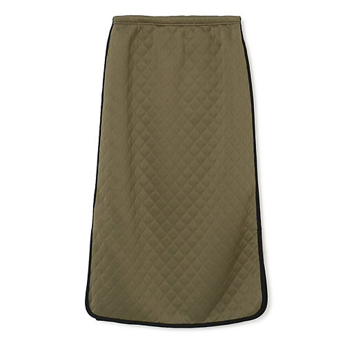 シーズンムード溢れるキルティングスカート ミリタリーキルトWAVEスカート