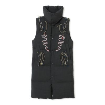 Embroidery down coat