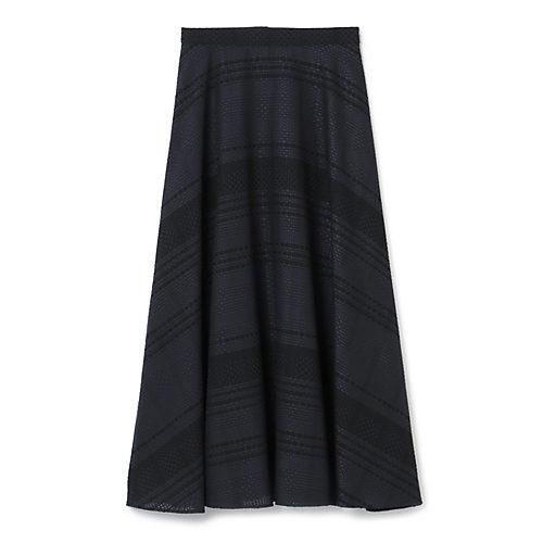 M7days(エムセブンデイズ)【編集部と考えました!】チェック織柄フレアスカート