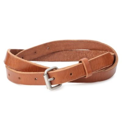 NARROW OILED LEATHER BELT