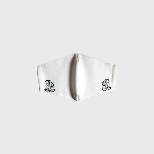 口に着く裏面の絹=シルクは、カイコの繭(まゆ)から作られる古来の天然繊維。 DJ猫