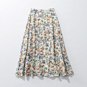 フレンチフラワープリント フレアロングスカート¥19,000+税