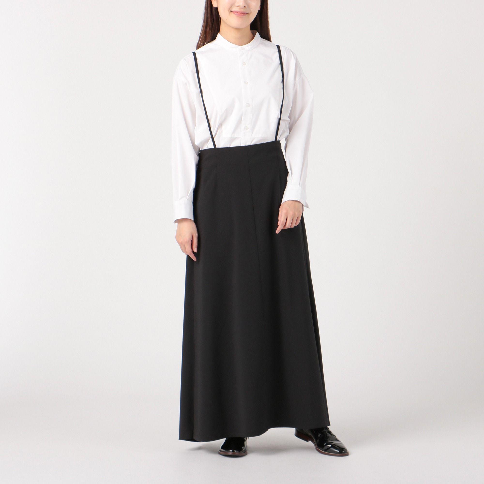 12closet(トゥエルブクローゼット)/【洗える】サスペンダー付きラップスカート
