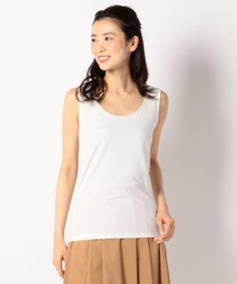 【新色追加!】ビジュー調ビーズ付き タンクトップ