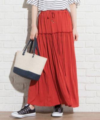 (L'aube)【WEB限定色あり】ハンドプリーツ スカート