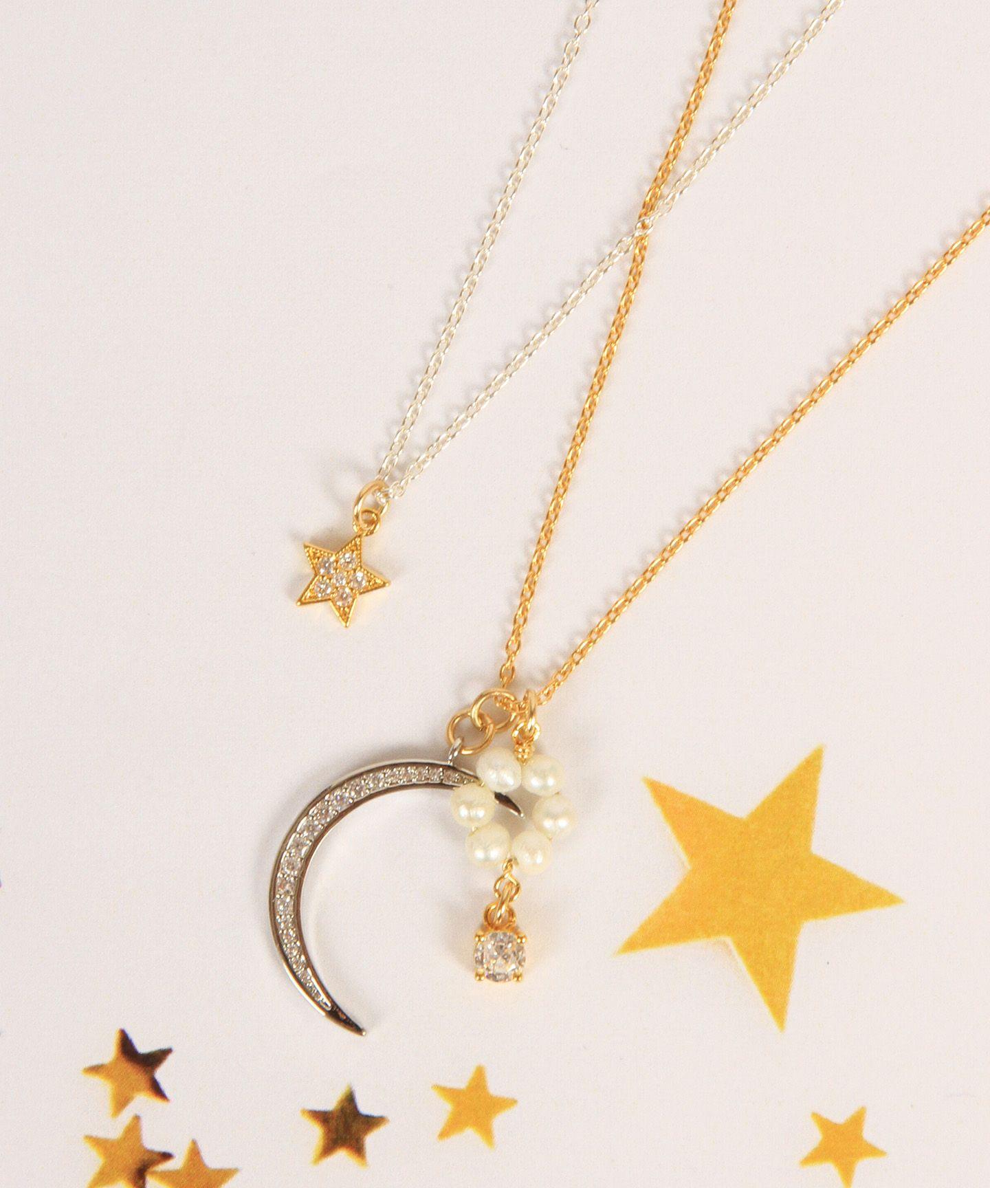 WYTHE CHARM(ワイスチャーム)/【ゴールド×シルバー】K14GF 月星淡水パール2連ネックレス