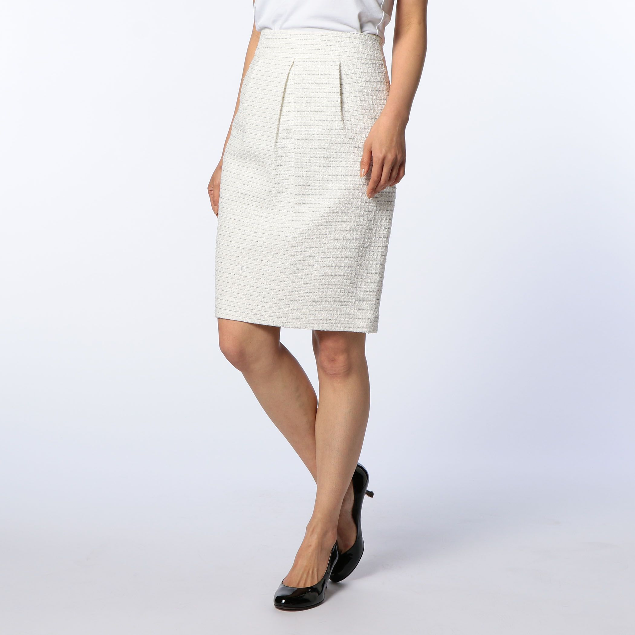 NOLLEY'Sノーリーズ/ツィードタイトスカート