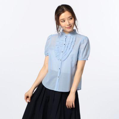 ボイルフリルシャツ