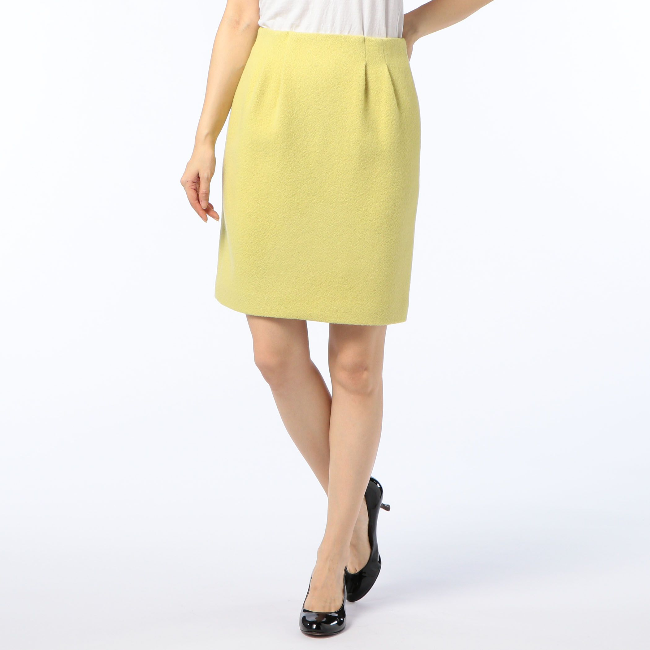 NOLLEY'Sノーリーズ/アンゴラ混メロンタイトスカート