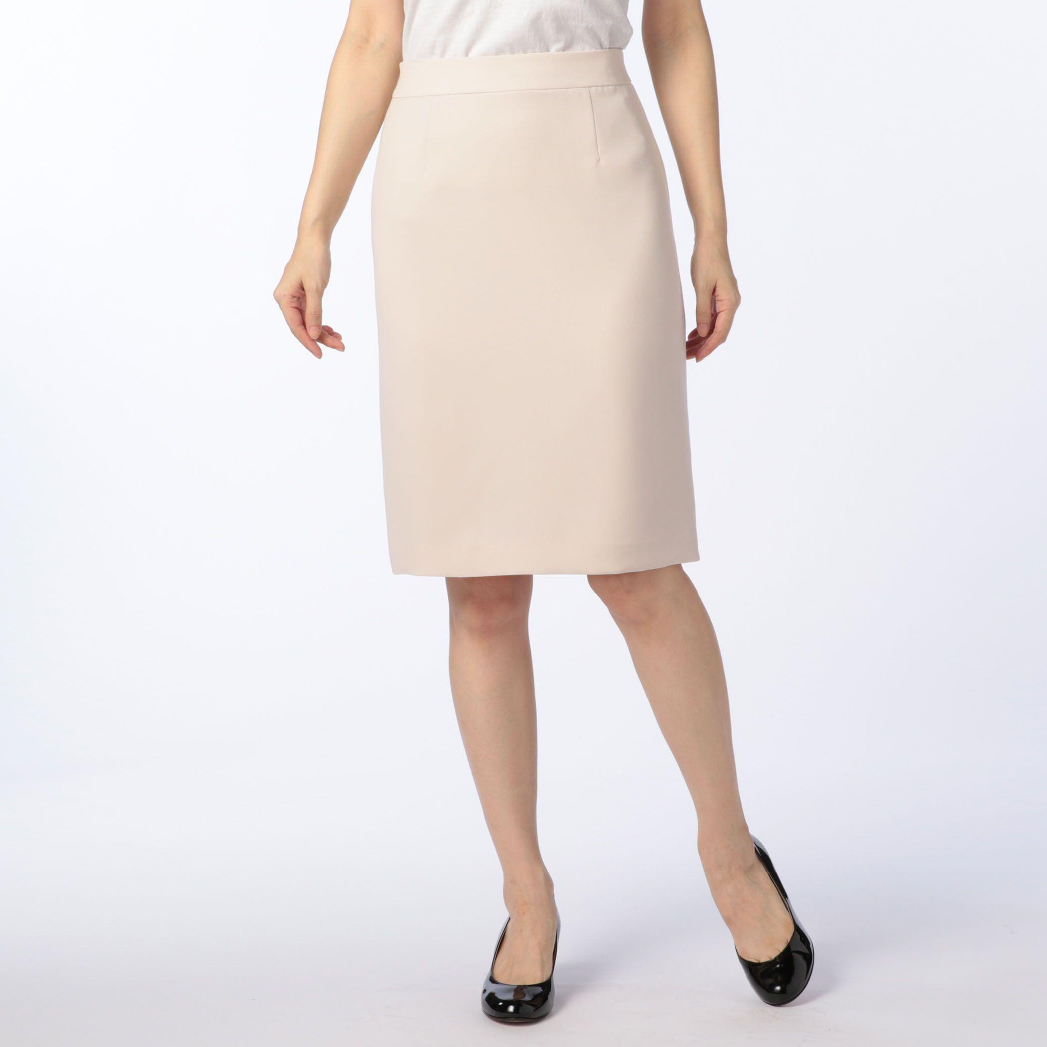 NOLLEY'Ssophiノーリーズソフィー/バックサテンタイトスカート