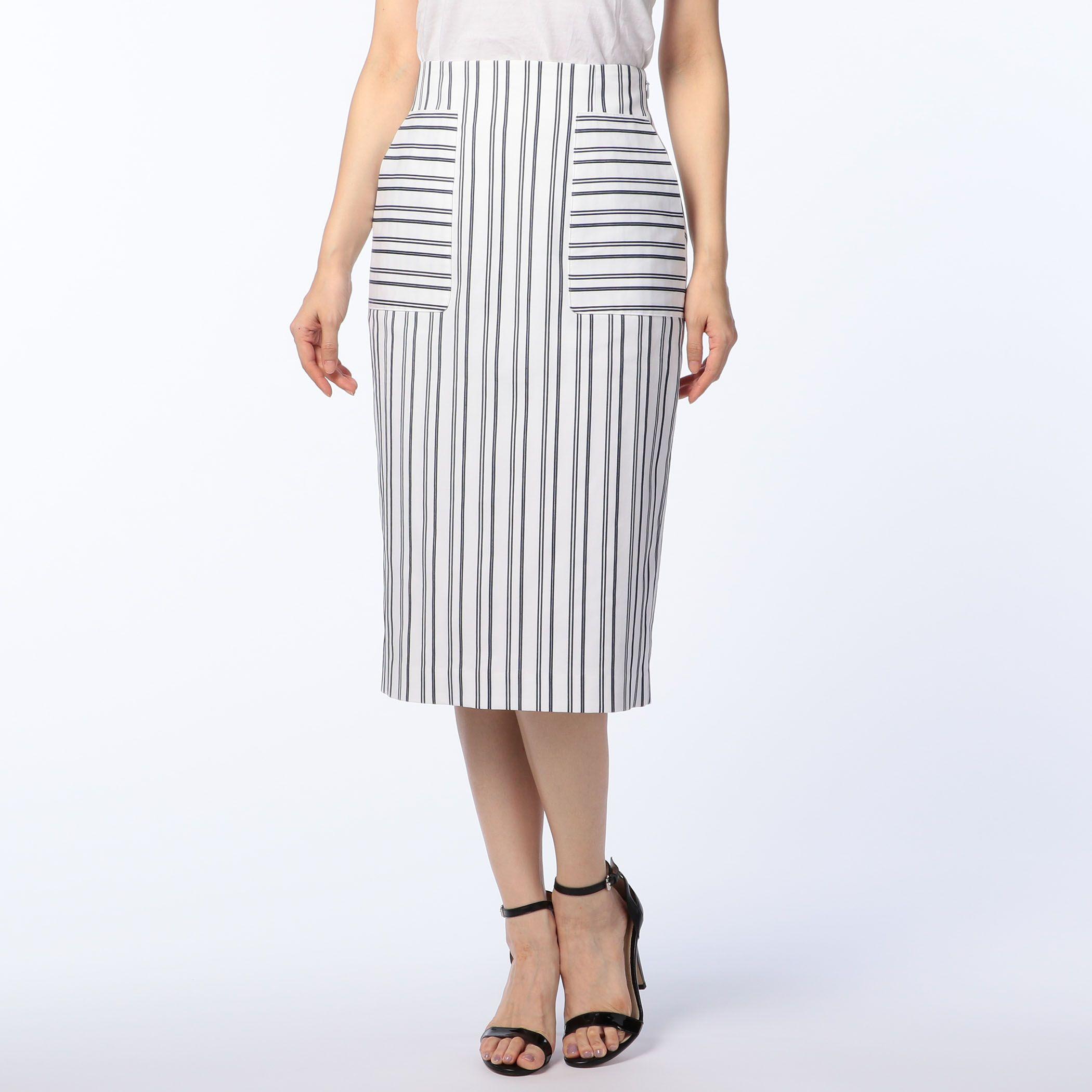 NOLLEY'Sノーリーズ/コードストライプレースアップスカート