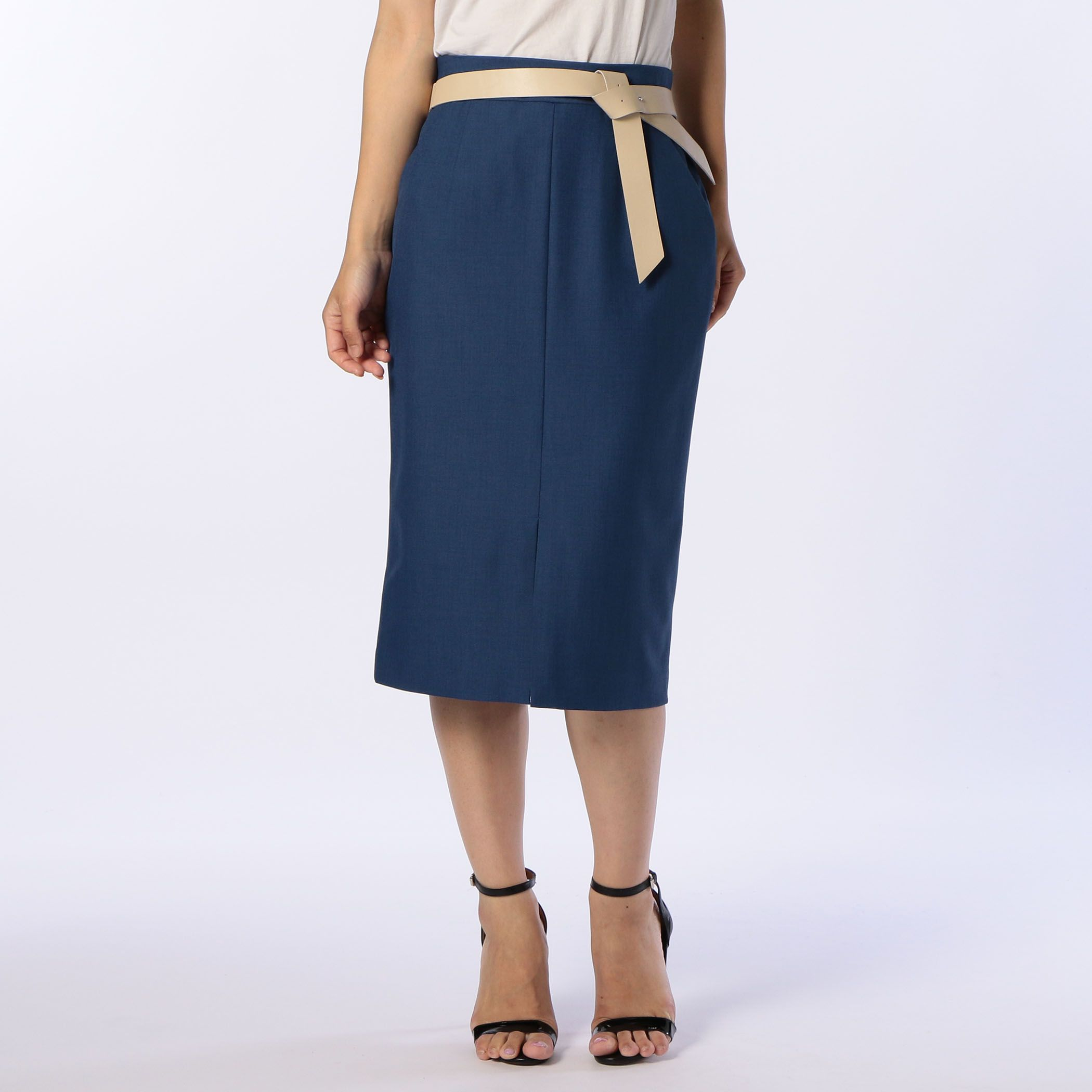 NOLLEY'Sノーリーズ/ベルト付きタイトスカート